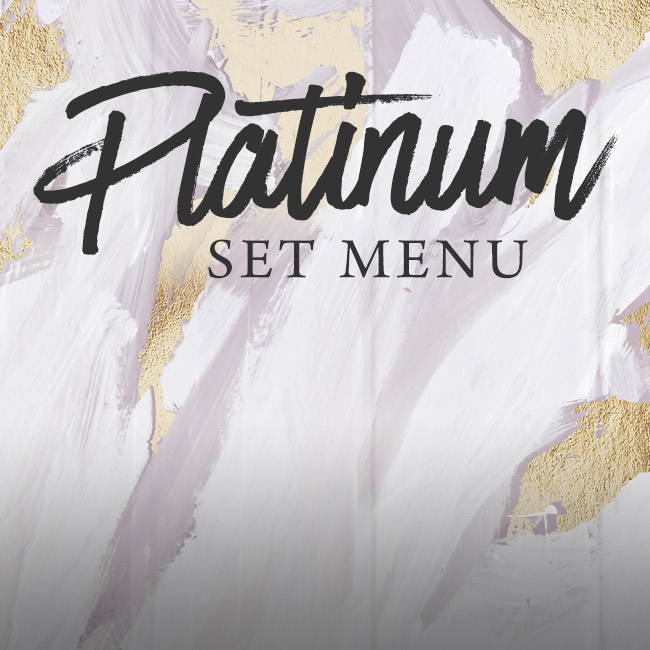 Platinum set menu at The Ship Inn