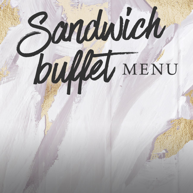 Sandwich buffet menu at The Ship Inn