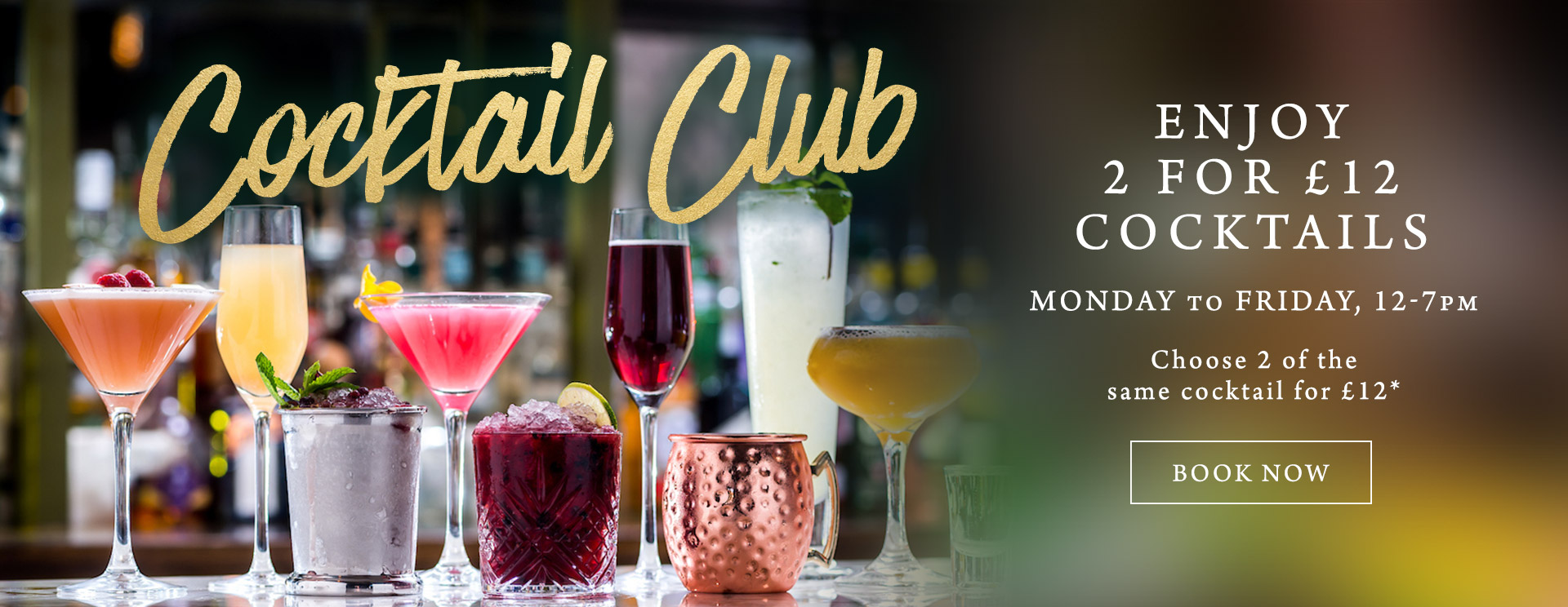 2 for £12 cocktails at The Ship Inn